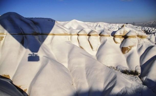 Kapadokya'da sıfırın altında balon turu 12