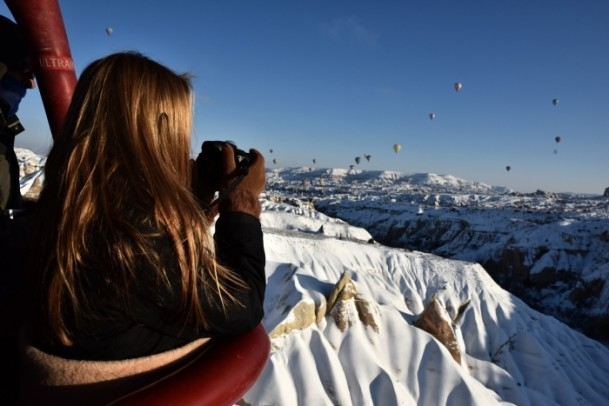 Kapadokya'da sıfırın altında balon turu 2