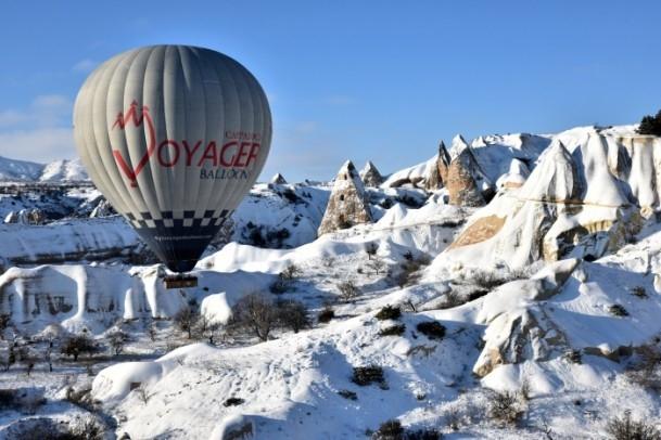 Kapadokya'da sıfırın altında balon turu 3