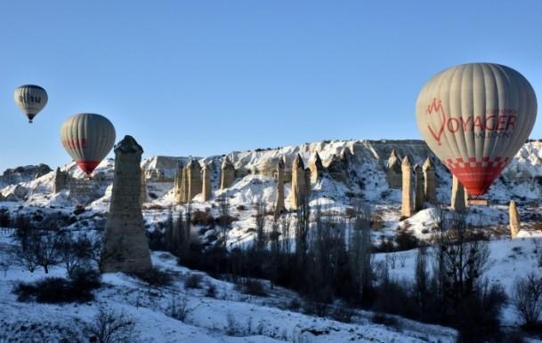 Kapadokya'da sıfırın altında balon turu 4