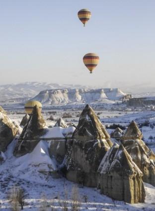 Kapadokya'da sıfırın altında balon turu 5