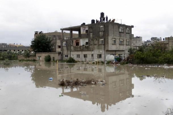 Refah kentinde sağanak 5