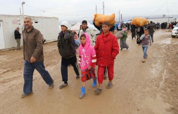 Iraklı sığınmacıların soğukla mücadelesi 1