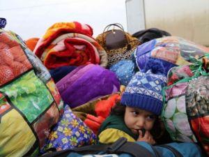Iraklı sığınmacıların soğukla mücadelesi