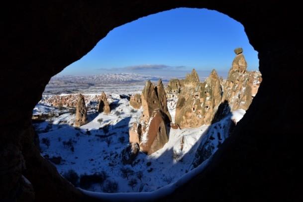 Kapadokya'nın zirvesi, kışın bir başka güzel 1