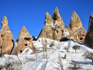 Kapadokya'nın zirvesi, kışın bir başka güzel