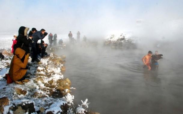 Soğuk havada kaplıca keyfi 5