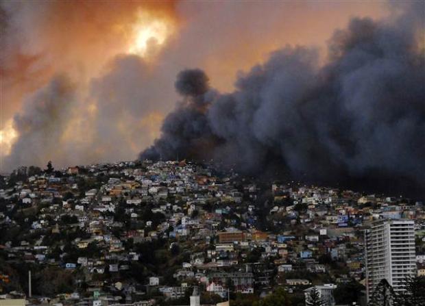 Şili'de büyük orman yangını 1