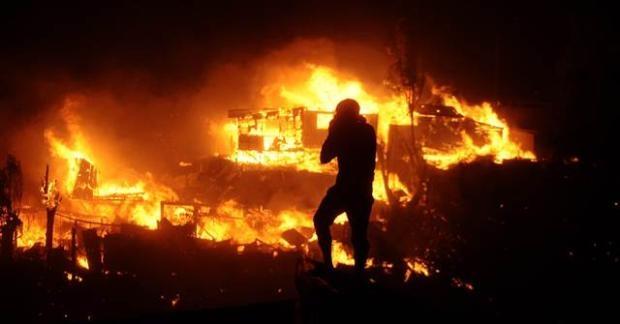 Şili'de büyük orman yangını 10