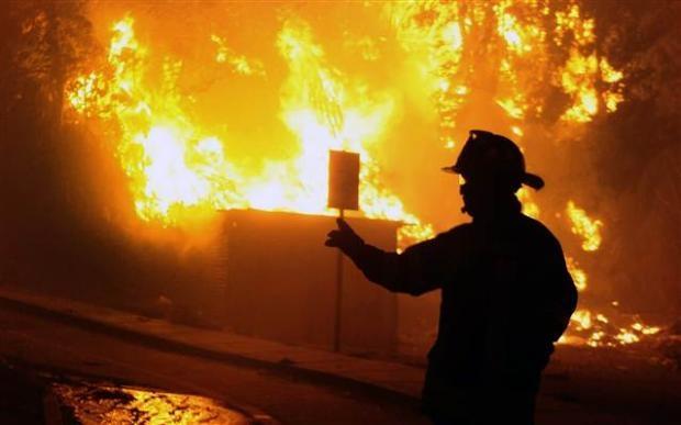 Şili'de büyük orman yangını 11