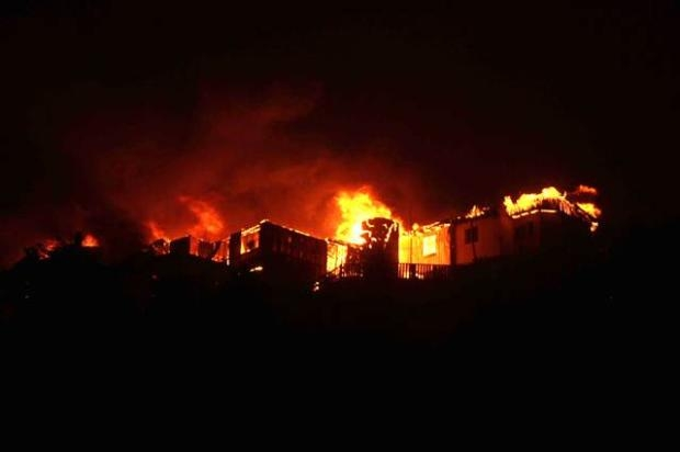 Şili'de büyük orman yangını 14
