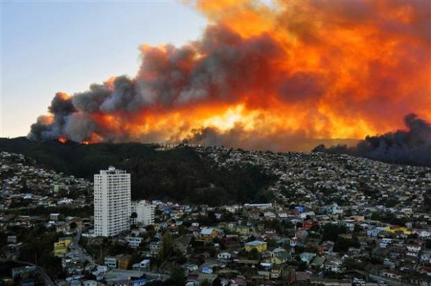 Şili'de büyük orman yangını 4