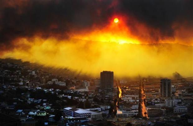 Şili'de büyük orman yangını 5