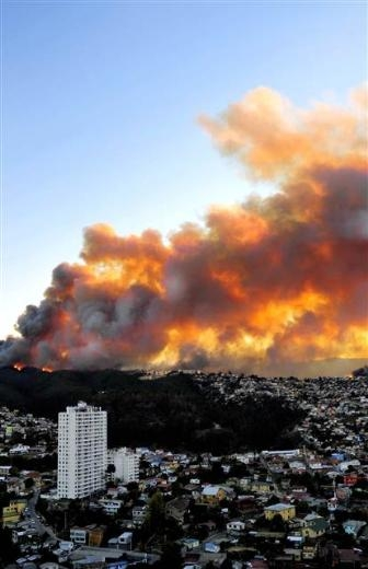 Şili'de büyük orman yangını 6