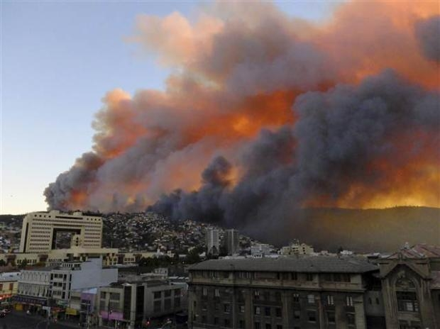 Şili'de büyük orman yangını 7