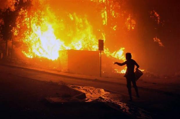 Şili'de büyük orman yangını 8