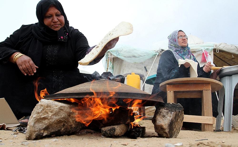 Gazze'de evsiz ailelerin yaşam mücadelesi 10