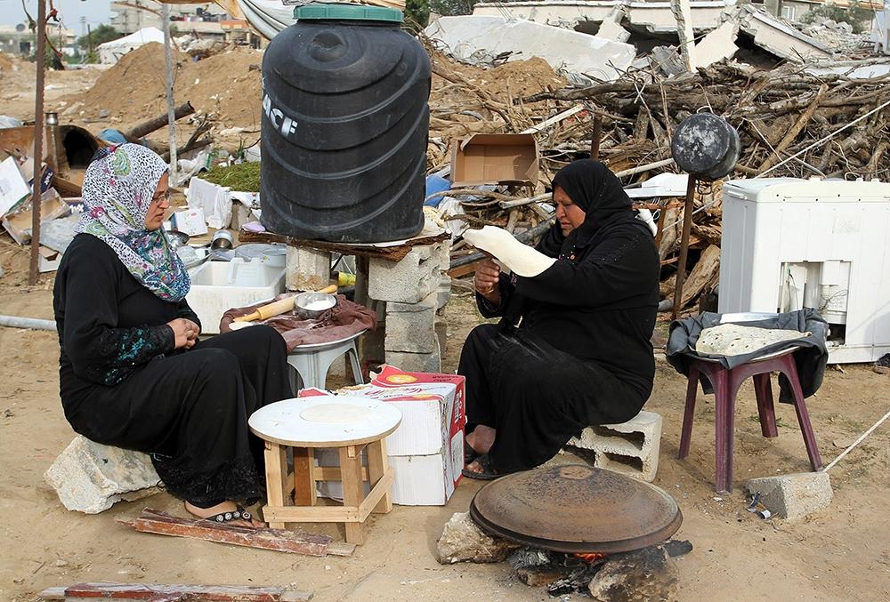 Gazze'de evsiz ailelerin yaşam mücadelesi 7