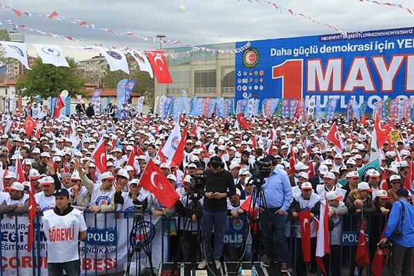 Konya'da 1 Mayıs 1