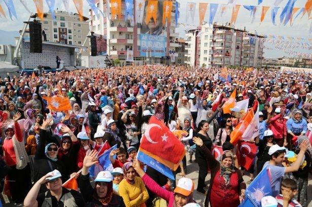 Davutoğlu Türkiye'yi il il gezdi 52