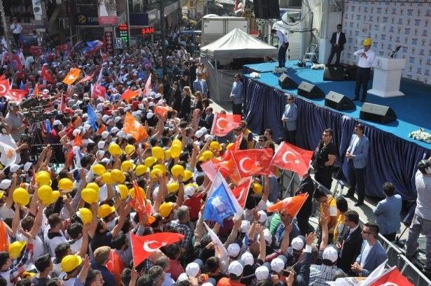 Davutoğlu Türkiye'yi il il gezdi 76