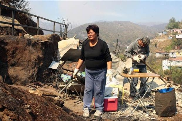 Şili'deki yangın kontrol edilemiyor 10