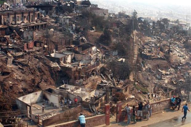 Şili'deki yangın kontrol edilemiyor 12
