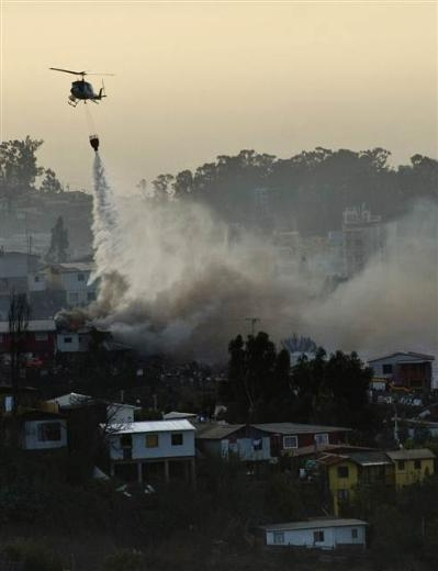 Şili'deki yangın kontrol edilemiyor 13