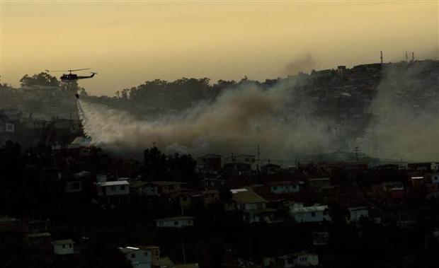Şili'deki yangın kontrol edilemiyor 15