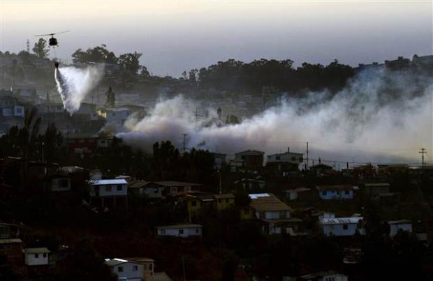 Şili'deki yangın kontrol edilemiyor 17