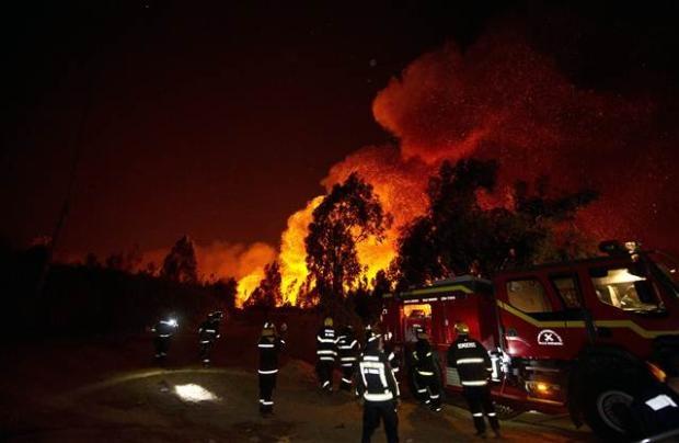 Şili'deki yangın kontrol edilemiyor 2