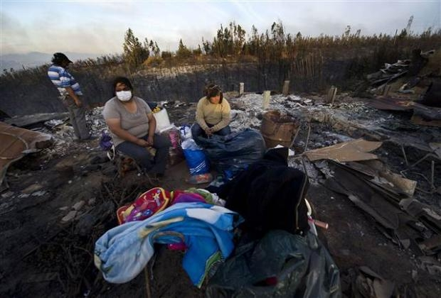 Şili'deki yangın kontrol edilemiyor 24