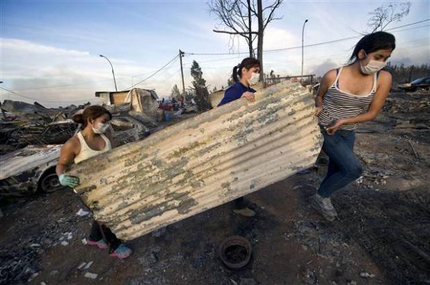 Şili'deki yangın kontrol edilemiyor 25