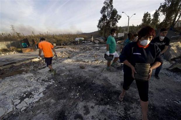 Şili'deki yangın kontrol edilemiyor 26