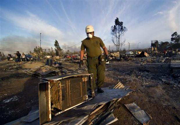 Şili'deki yangın kontrol edilemiyor 28