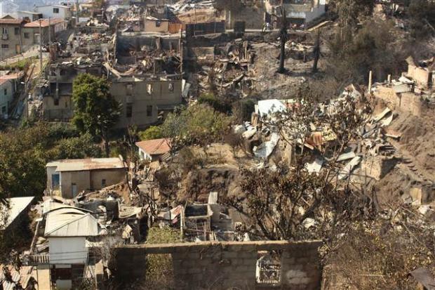 Şili'deki yangın kontrol edilemiyor 8