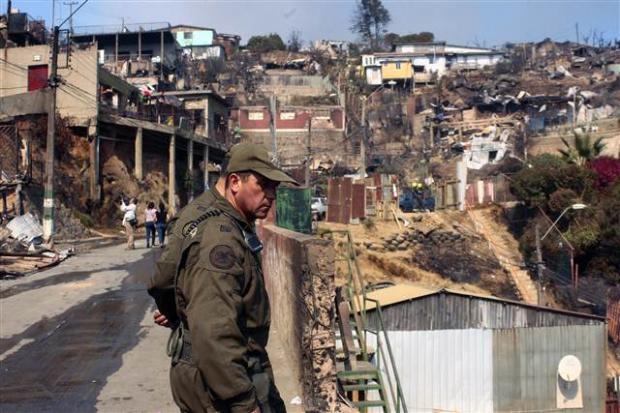 Şili'deki yangın kontrol edilemiyor 9