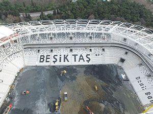 Vodafone Arena'da Beşiktaş yazısı göründü