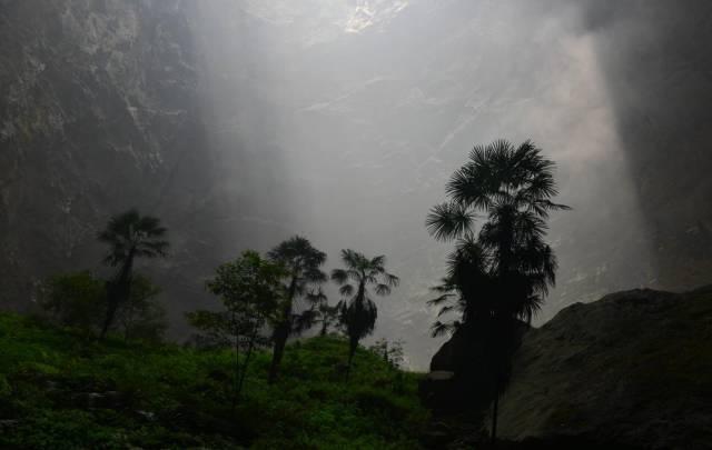 Çin'deki dev mağara ilk kez görüntüledi 2