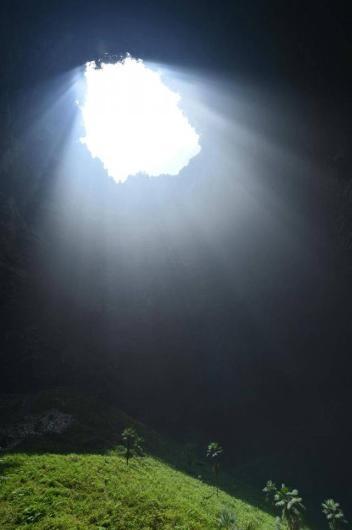 Çin'deki dev mağara ilk kez görüntüledi 4