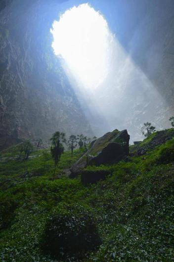Çin'deki dev mağara ilk kez görüntüledi 5