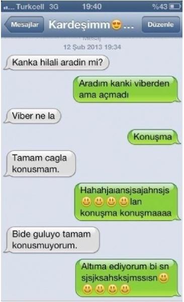 Birbirinden Komik Whatsapp Diyalogları 15