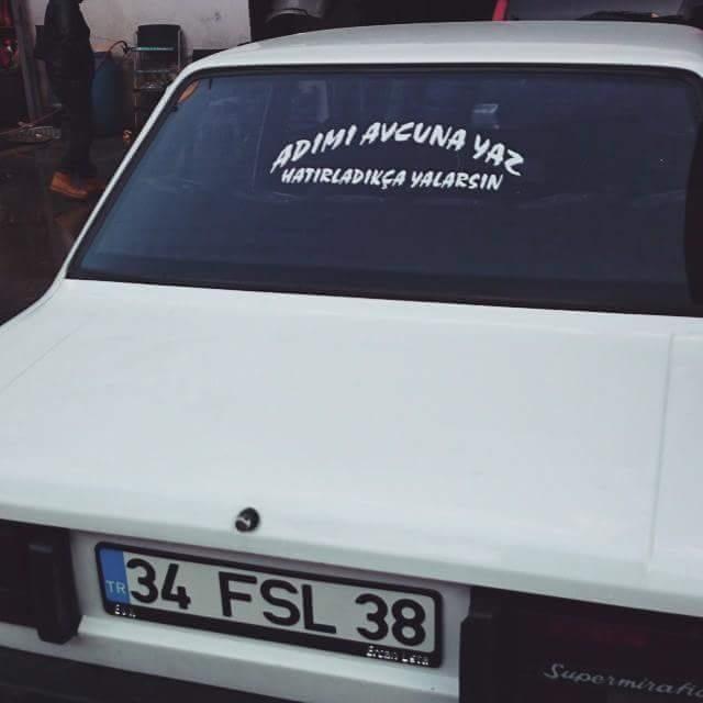 En güzel araba yazıları 17