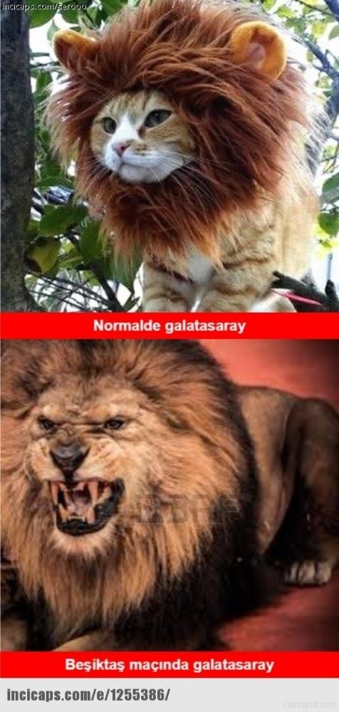 Galatasaray - Beşiktaş maçı caps'leri 12