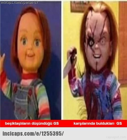 Galatasaray - Beşiktaş maçı caps'leri 5