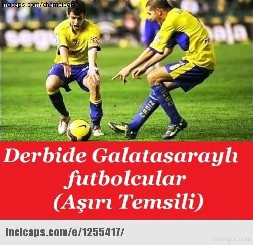 Galatasaray - Beşiktaş maçı caps'leri 7