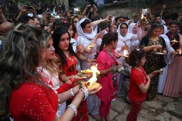 Yezidiler 'Kırmızı Çarşamba'yı kutladılar 1