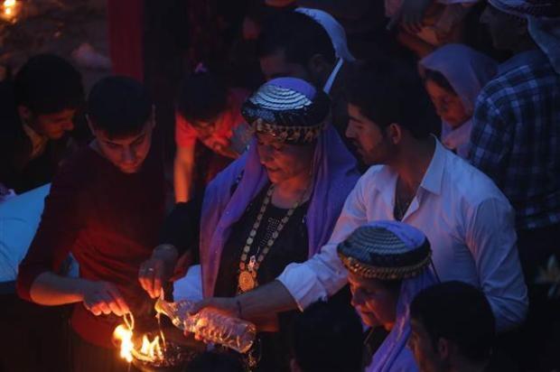 Yezidiler 'Kırmızı Çarşamba'yı kutladılar 11