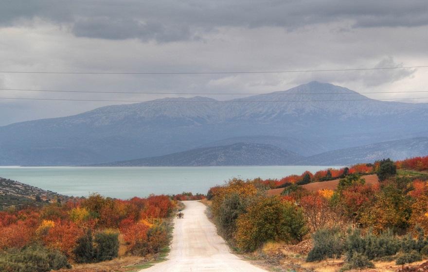 Beyşehir Gölü Milli Parkı'nda sonbahar görüntüleri 1