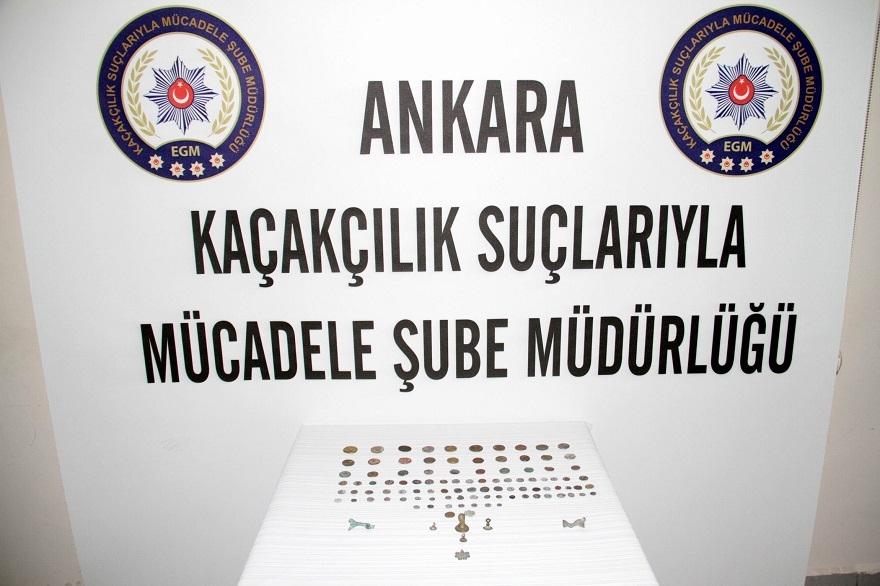 Konya'dan çalınan tarihi eserler Ankara'da yakalandı 1
